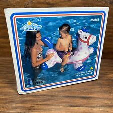 "VTG The Wet Set Intex Inflatable Pool Float Horse Ride On 1998 49"" X 33.5"" NEW"