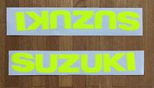 SERBATOIO-Adesivi-Set 2tlg PER SUZUKI GSXR GSX-R 600 750 1000 anno 01-16 NUOVO GIALLO NEON