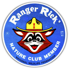 RANGER RICK CAR STICKER RETRO VINTAGE DESIGN 85 x 85mm