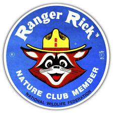 RANGER RICK CAR STICKER RETRO VINTAGE DESIGN 85 x 85mm