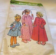Vintage Original 60's Toddlers Simplicity Sewing Pattern Size 3 Cut