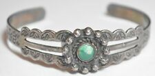 Old Pawn c.1930 Harvey Era Turquoise Sterling Silver Bracelet 4654