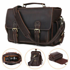 Vintage Leather Camera Bag For Canon Nikon DSLR Shoulder Bag Satchel Briefcases