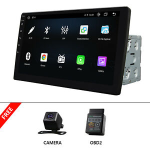 """OBD+CAM+Car Radio Android 10.1"""" Touchscreen 2DIN Stereo Bluetooth WIFI GPS 8Core"""