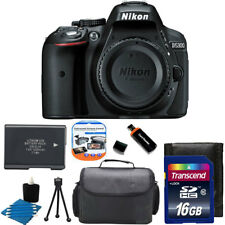 Nikon D5300 24MP CMOS Digital SLR Camera w/ Wi-Fi  + Extra Battery +16GB Top Kit