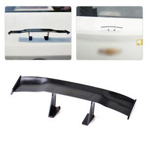 17cm Carbon Fiber Car Mini Rear Tail Spoiler Wing Decoration Universal se