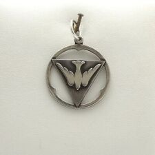 Vintage Sterling Silver Holy Spirit Peace Dove Trinity Triangle Charm Pendant