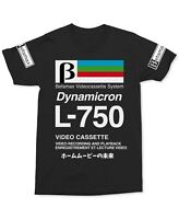 Betamax Mens T-Shirt Black Size Large L Dynamicron L-750 Graphic Tee $20- 222