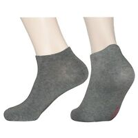 """6 Pairs Lot Womens Solid Gray Low-cut Socks """"Skin contact surface is 100% cotton"""