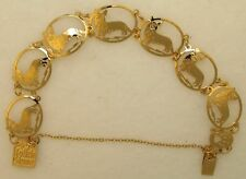 Cardigan Welsh Corgi Jewelry Gold Bracelet Touchstone