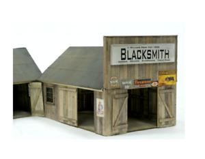HO Scale Banta Modelworks BLACKSMITH/CARPENTRY SHOP Laser Cut Kit Item #2125