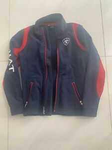 Ariat Kids Large Softshell Jacket Navy And Red