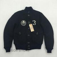 BOB DONG A-1 Woolen Flight Jacket USCG Back Paint Winter Men's Military Coat