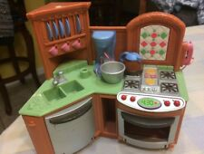 Fisher Price loving Family Doll Furniture Kitchen Stove Sink Sounds