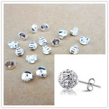 50PCS 925 Sterling Silver Butterfly BACK STOPPERS Earrings Jewelry Findings