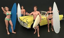 American Diorama 1/18 Four Figure Surfer Set -- Casey, Paris, Greg, Jay