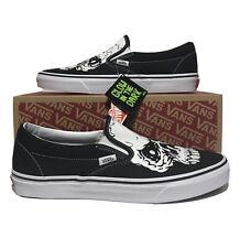 Vans Classic Slip On Skull Mens Size 11.5 Tm Glow SkulLs Black Skateboarding