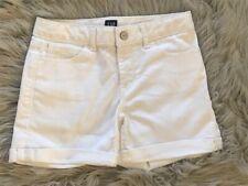 Gap Kids GIRLS NWOT White Denim Stretch Midi Cuffed Shorts 12 Regular