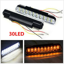 Universal 2X 30 LED Car Daytime Running Light DRL Turn Signal Indicator Fog Lamp