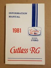 Excellent NOS 1981 Cessna Cutlass RG 172RG Information Manual D1194-13 12/92