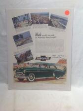 1952 CHEVY STYLELINE-MIAMI,JONES, LAGUNA,BILOXI,BRADFORD BEACHES-10x13 AD