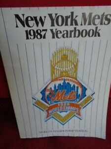 1987 VINTAGE OFFICIAL BASEBALL NEW YORK METS YEARBOOK *CHAMPIONSHIP EDITION*