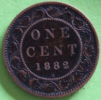 CANADA ONE CENT 1882 H