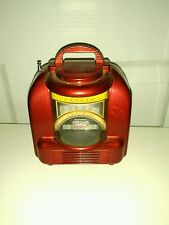 Music Suntone RR5900 AM/FM JUKE BOX RADIO Mini Portable Radio Metalic Red