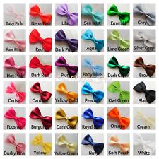 "Satin Ribbon Mini Bow Tie - 4.5cm(1 3/4"")Self Adhesive - Pkt.6/12 - Wedding Bow"