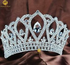Princess Bridal Tiara Crown Austrian Rhinestone Pageant Party Women Jewelry New