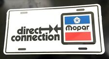 Mopar Direct Connection License Plate NEW 70's Dodge Plymouth