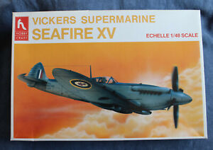 Hobbycraft Supermarine Seafire XV 1/48 Model, with all parts and instructions