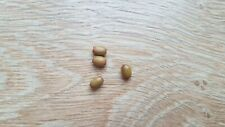 4 OVAL GREEN WOODEN BEADS