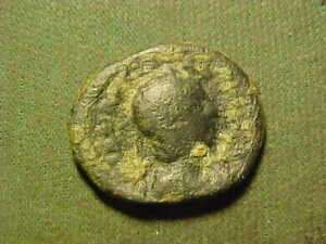 Ancient  bronze coin as pictured