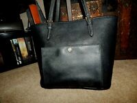 Authentic Michael Kors Handbag Purse MK Tote Bag Black Saffiano Leather Jet Set