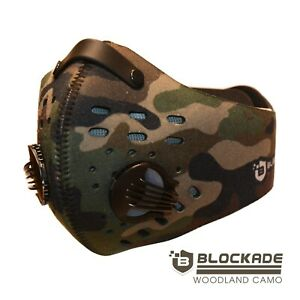 Camouflage Cycling Face Mask w/ Filter Neoprene - Woodland Camo USA Shipping