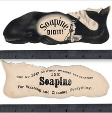 Whale 1800's Whaling Providence Soapine Lg Soap Die-Cut Kendall Advertising Card