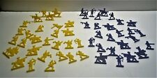 Vintage Lucky Products Comic Ad Knights Plastic Blue and Yellow Figures (54)