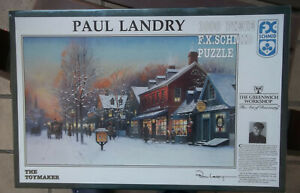 Paul Landry The Toymaker Jigsaw Puzzle Sealed New F.X. Schmid 1000 Piece