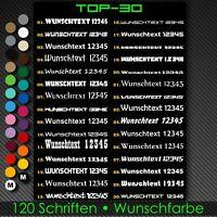2x Wunschtext Aufkleber 60cm Schriftzug Domain Name Motorrad Auto Sticker A213