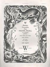 ▬► PUBLICITE ADVERTISING AD PARFUM PERFUME WEIL ZIBELINE J. JACQUELIN  1942