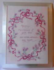 "5 X 7 Musical plaque ""Mother the ribbons of your love are woven around my heart"""