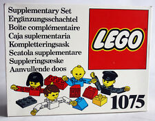 ULTRA RARE VINTAGE 1976 LEGO 1075 SUPPLEMENTARY SET PEOPLE FIGURES NEW MISB !