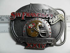 VINTAGE 1990 NFL BELT BUCKLE SUPER BOWL 24 SAN FRANCISCO 49ERS LTD EDITION #4325