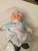 NEW! The Year Without A Santa Claus Rankin Bass MRS CLAUS Plush Doll NECA