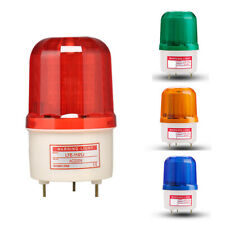 Rotary LED Strobe Alarm Lamp Light Siren LED Warning Light Belt Voice 220/48/12V