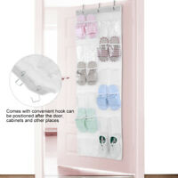 24 Pocket Over Door Shoe Organizer Rack Hanging Storage Holder Hanger Bag Closet