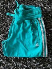 adidas Damen Sporthose Gr. XS 26-28 Caprihose türkis mit 3 weißen Streifen