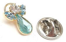 Mensaje Ángel Piedra De Nacimiento Azul Circonita Cristal Broche