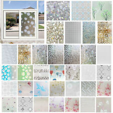 3D Static Electric Glass Wall Sticker Privacy Adhesive Frosted Window Film Decor
